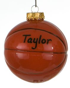 round basketball christmas ornament
