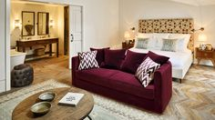 Soho House Istanbul in Istanbul - Best hotel rates - Vossy Soho House Istanbul, Sofa Design, Interior Design, Furniture Design, Soho House Hotel, Living Room Sofa, Living Room Decor, Burgundy Living Room, Ideas Habitaciones