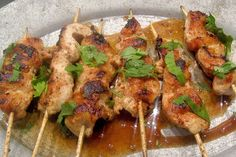 Rusty chicken from Dr. Oz website - easy dinner party food and who doesn't like things on sticks!!!!