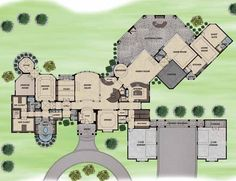 Wow! His and her bathrooms, guest house and 4 car garage