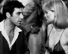 Al Pacino and Michelle Pfeiffer in Scarface