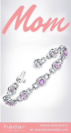 Mother's Day Gifts by HadarDiamonds.com . Timeless diamond tennis bracelet designs a mother will treasure for an eternity.  Call for custom sizes and birthstones.  #mothersdaygifts