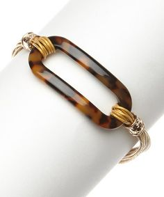 Another great find on #zulily! Camel Tortoiseshell Open Oval Bracelet by I Love Accessories #zulilyfinds