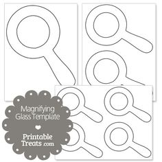 Printable Magnifying Glass Template from PrintableTreats.com