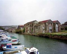 Anchor Warehouse, Former Foxs Boatyard, Penryn, Cornwall, before restoration and conversion. Places To Travel, Places To Visit, Truro Cornwall, Cornish Coast, English Village, English Heritage, Falmouth, Weekend Breaks, Seaside Towns