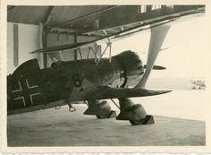 TOP henschel HS 123 Doppeldecker Airplane Flugzeug Flugplatz Foto in Sammeln & Seltenes, Militaria, 1918-1945 | eBay