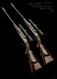 Westley Richards,7x57R Droplock Rifle, Pair double rifles