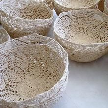 I wonder how you clean these lovely Crocheted bowls by Moonbasket -Cape Town
