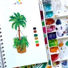 Watercolor Artists, Watercolor Illustration, Gouache Painting, Make Art, Botanical Art, Shadows, Action, Spotlight, Paintings