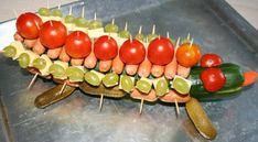 gurkenkrokodil und ähnliches essigurken-tomaten-trauben