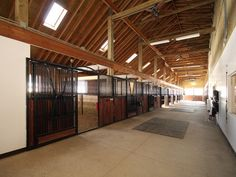 Aisle View of Barn