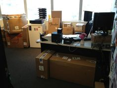 What my office looks like when Morning Parade ships all their gear to LA. I can feel the music!