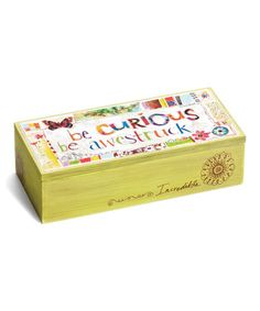Loving this 'Be Curious, Be Awestruck' Box on #zulily! #zulilyfinds