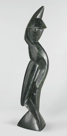 Archipenko Alexander 1887 - 1964 STATUE ON TRIANGULAR BASE 1914
