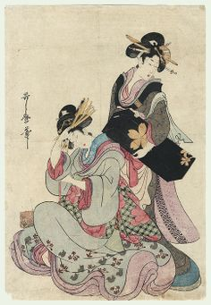 two courtesans / utamaro / 1750 - 1806