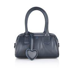 Armani Girls Navy Leather Handbag