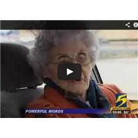 Watch as this 92-year-old woman describes how she saved a robber's faith after he threatened to kill her.