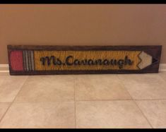 Personalized Teacher String Art -Pencil