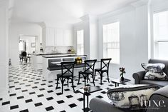 Designs by Sundown is a 2020 Gold List honoree featured in Luxe Interiors + Design. See more of this design professional's projects. White Kitchen Decor, Kitchen Decor Themes, Home Decor, Kitchen Ideas, Apartment Therapy, Fixer Upper, Large Floor Tiles, Kitchen Colour Combination, Best Flooring For Kitchen