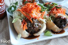 Confessions and a Damn Good Hoisin Flavored Meatball Sandwich. - Hip Foodie Mom