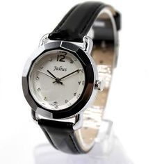 Trending Watches New White Dial Black Band PNP Shiny Silver case Ladies Fashion | eBay