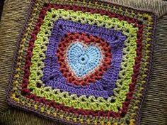 heart square crochet - Pesquisa Google