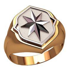 Wind Rose Signet Ring Compass Rose Men Ring Men Gold Signet Ring Unique Mens Ring Ring Men Special Design Signet Ring Mens Signet Ring (520.00 USD) by WorldOfGold