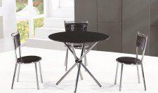 Jídelní stůl, tvrzené sklo / ocel, černá, LAMAR Dining Table, Glass, Furniture, Home Decor, Decoration Home, Drinkware, Room Decor, Dinner Table, Corning Glass