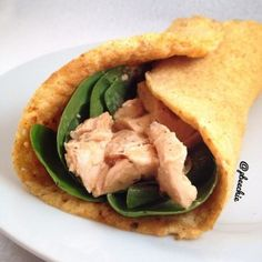 """Make your own """"tortilla"""" from egg whites -- fill with favorite veggies & protein"""
