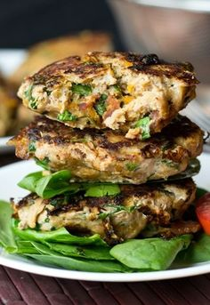Ground turkey is mixed with sweet potato, spinach, bacon and seasonings to make these savory burgers.
