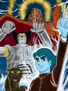 70s Cartoons, Art Of Noise, Japanese Superheroes, Anime Fight, Mecha Anime, Japanese Characters, Super Robot, Japanese Cartoon, Old Anime