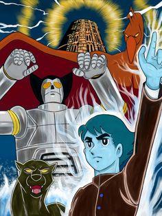 Babel II TVアニメのバビル2世のイラストです。