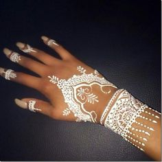 White henna designs easy & beautiful