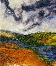 Scottish landscape felted wool painting of by NorthernWildArt