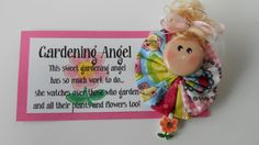 Garden Angel Choice of Magnet or Pin