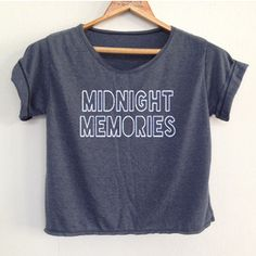 Crop Midnight memories1 Direction Shirt 1d Tunic One Direction Shirt Women's Clothing Size S M L