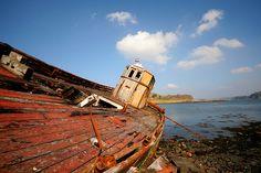 Kerrera fishing boat wreck