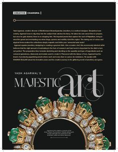 Story featured in 'Creative Charisma' of Adorn Jan-Feb 2014 issue