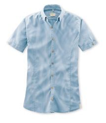 Q1 Hemd STEVE Überfärber in Blau in 100% Baumwolle Slim Fit, Button Down Shirt, Men Casual, Mens Tops, Shirts, Shopping, Fashion, Blue, Cotton
