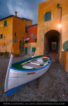 Houses by the sea in Varigotti hamlet, Italy. Prints available at http://giovanni-allievi.artistwebsites.com/art/all/varigotti+italy/all