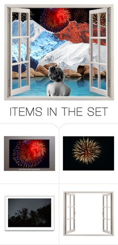 """☼; ""it was the fourth of july, you and i were, you and i were fire, fire, fireworks"""" by strawberriies ❤ liked on Polyvore featuring art and hannahsartsy"