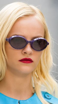 Splash Sunglasses in striking violet on the Burberry S/S13 runway