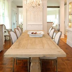 traditional dining room by AMI Designs...Rustic meets formal