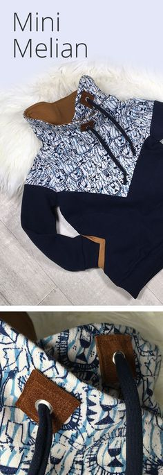 "Verflixt und zugespitzt » Schnittmuster ""Mini Melian"" nähen Schnittmuster Mini Melian - ein spitzen Schnitt auf die Spitze getrieben ☺ Mini Melian mit Kragen, Kordeln & Lederpatches selber nähen » Bildergalerie »"