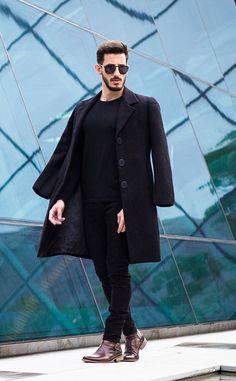Rodrigo P. #menswear #men's clothing #men's style #men's street style #street style #fashion #male model #model #Man #men #all black everything
