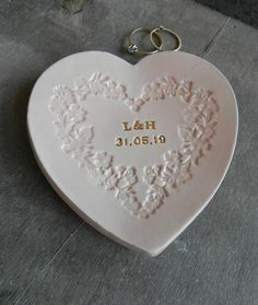 Excited to share the latest addition to my #etsy shop: Personalized Ceramic Trinket Dish with Gold Letters, Bridal Party Gifts, Pink Heart Dish, Wedding Ring Dish, Anniversary Plate, Engagement Ceramic Jewelry, Ceramic Clay, Best Friend Jewelry, Jewelry Dish, Gold Letters, Ring Dish, White Clay, Ceramic Design, Mold Making