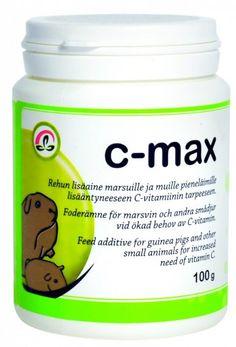 C-Max 100g. Hinta 12 € - 18 €. Guinea Pigs, Teaser, Coconut Oil, Vitamins, Jar, Vitamin D, Jars, Glass