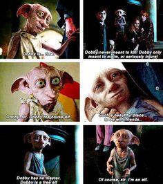 Dobby the house elf quotes. #HappyBirthdayDobby