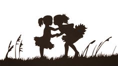 Sibling Silhouettes - Heart Paper Scissors