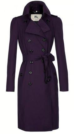 Purple Burberry Trench Coat